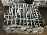 構築のツールによって電流を通される鋼鉄足場ねじジャックベース