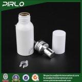 frasco branco de alumínio do pulverizador da cor de 50ml 1.7oz com o frasco vazio do alumínio do atomizador do perfume do tampão