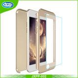 360 het Hoogtepunt van de graad beschermt Slank Plastiek met het Aangemaakte Geval van de Telefoon van het Glas Mobiele voor iPhone 7 plus