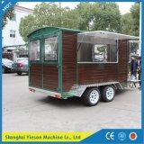 Ys-Fw450 paste de Houten Aanhangwagen van het Roomijs van de Vrachtwagen van het Voedsel van de Aanhangwagen aan