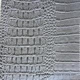 灰色ののどのワニの革