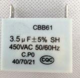 Condensador de película de polipropileno metalizado con certificado UL