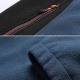 La moda manga larga 100% poliéster bordado exterior Casual Chaleco polar