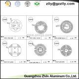 Material de aluminio del producto/de construcción/disipador de calor/refrigerador/radiador de aluminio de la protuberancia del perfil