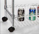 Стеллаж для выставки товаров отделки крома 4 ярусов для пользы магазина или дома