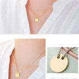Het Goud van het Roestvrij staal van de Juwelen van de manier om de Halsband die van het Sleutelbeen van de Tegenhanger wordt geplateerd