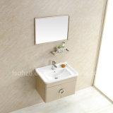 Governo moderno di vanità dello specchio della stanza da bagno dell'acciaio inossidabile con la mensola