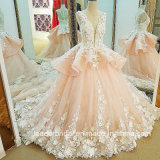 Arabic цветет платье венчания Lb20187 шнурка Bridal мантий шарика розовое