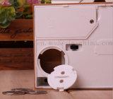 OEM creativo plástico eléctricos caja del ahorro de la caja de dinero del gato con robar el dinero