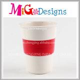 Les tasses de lait en céramique décorative avec de la galvanoplastie