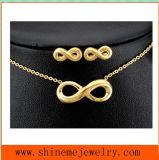 Le bijou de vente chaud d'acier inoxydable de collier d'acier inoxydable de 8 mots a placé (SSNL2644)
