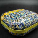 Square Bread Box Tin; Gift Tinplate Can; Alimentos Tin (S001-V14)