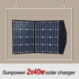 Carregador de painel solar portátil 80W Sunpower Flexible Series