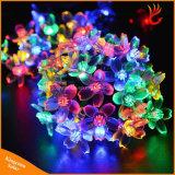 lumières féeriques solaires de chaîne de caractères de jardin de fleur 50LED pour la décoration de Noël