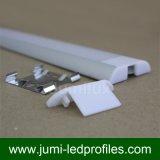 Perfil de alumínio magro liso do diodo emissor de luz para a luz da fita do diodo emissor de luz