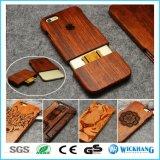 Естественной высеканный древесиной случай мобильного телефона
