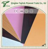 Tablero colorido de la contrachapada del papel de la melamina para los muebles