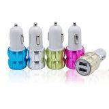 Double port USB 2 adaptateur de chargeur de voiture pour smartphone double chargeur de voiture