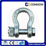 Galvanizado en caliente G2130 arco grillete con Safety Pin