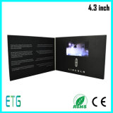 Tarjeta de felicitación de 4,3 pulgadas de LCD para Venta caliente