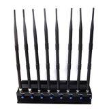 Регулируемый Jammer GPS WiFi Lojack Jammer сигнала мобильного телефона частоты 8-Antennas GSM 3G 4G