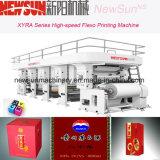 Xyra-850 Paquete Vino de alta velocidad de la línea de máquina de impresión Flexo