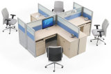 Het moderne Bureau van de Computer van het Personeel van het Bureau van de Vorm van L van het Werkstation