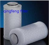Cartuccia di filtro pieghettata fibra di vetro per filtrazione trattata