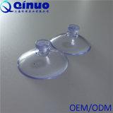 Copo plástico transparente da sução do vácuo da cabeça do cogumelo 30mm do vácuo forte feito sob encomenda de Qinuo