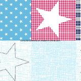 Stern Pigment&Disperse des Baby-100%Polyester druckte Gewebe für Bettwäsche-Set