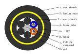 De Kabel van de Optische Vezel van de multi-buis van G. 652D en Losse Buis Niet-metalen Kevlar (GYFTY)