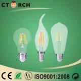 Carrocería de cristal de la serie 6W del filamento del bulbo del LED