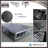 Etapa de aluminio regulable en altura etapa móvil portátil para coro