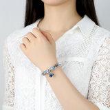 Muttergeschenk-Charme-Armband-Inner-Anhänger u. blaue Raupe-Liebes-Armbänder