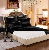 Las series de seda de la elegancia de la nieve de Taihu aclaran el conjunto puro negro de lujo verdadero inconsútil de seda estándar teñido de la hoja de la seda de mora de ropa de cama de Oeko-Tex 100 19momme