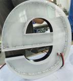 Boutique de la publicité avant le logo d'affaires de l'acrylique de la résine époxy Ampoule LED signe la lettre de canal Halolit rétroéclairé de marche arrière