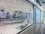 Porta do obturador do rolo da segurança do policarbonato e do aço inoxidável, porta de cristal do rolamento
