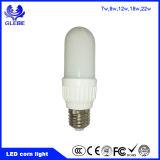 Nuevo tipo luz del maíz de la luz de bulbo del LED E27 B22 7W 18W 3u LED