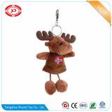 Zachte Stuk speelgoed van de Herten van de pluche het Bruine voor de Amerikaanse elanden Keychain van de Gift