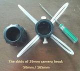 Min 29mm zelf-Nivelleert Camera van de Buis van de Glasvezel van de Camera van de Inspectie 30m/50m met de Teller van de Meter