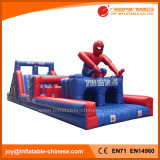 Stuk speelgoed van de Cursus van de Hindernis Spiderman van de uitdaging het Opblaasbare voor Pretpark (T8-401)