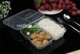3개의 격실 처분할 수 있는 플라스틱 Bento 상자 (SZ-3-W)