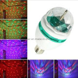 LED Full Color Rotating Lâmpada 3W E27 / B22 RGB Refletor LED Globe Bulb Mini Party Light LED