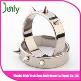 Anel de noivado de aço inoxidável extravagante para anéis de casamento para homens