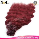 Natürliches Keratin-brasilianische Jungfrau-Menschenhaar-Baumwollgewinde-Haar-Extension