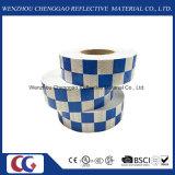 زرقاء بيضاء عادية انعكاسيّة شريط مربّع يجعل في الصين مصنع