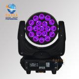 Indicatore luminoso capo mobile caldo della lavata dello zoom LED di vendita 19*10W 4in1 RGBW di alta qualità di Rasha con Powercon DMX Powercon per il partito del randello del DJ