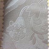 Cuoio del PVC di disegno del fiore della prova dell'acqua per la decorazione della parete