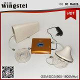 Amplificador de señal de la moda de oro repetidor de señal de doble banda 2G 3G de repetidor de señal para el hogar uso móvil