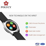 セリウムの防水リアルタイムの心拍数のスポーツのスリープモニタの歩数計の健康の適性の作業の追跡者のスマートなBluetoothのブレスレットの腕時計